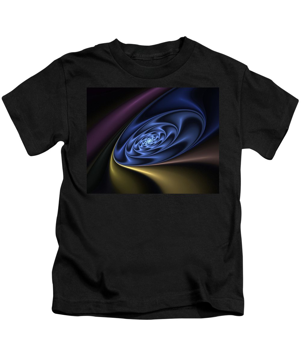 Digital Painting Kids T-Shirt featuring the digital art Abstract 040610 by David Lane