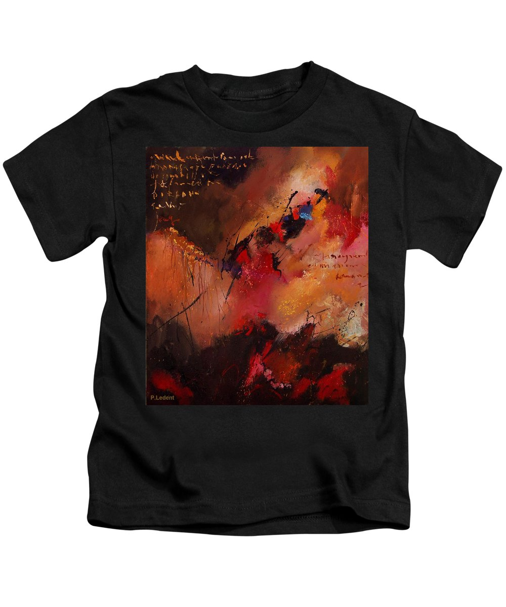 Abstract Kids T-Shirt featuring the painting Abstract 0408 by Pol Ledent