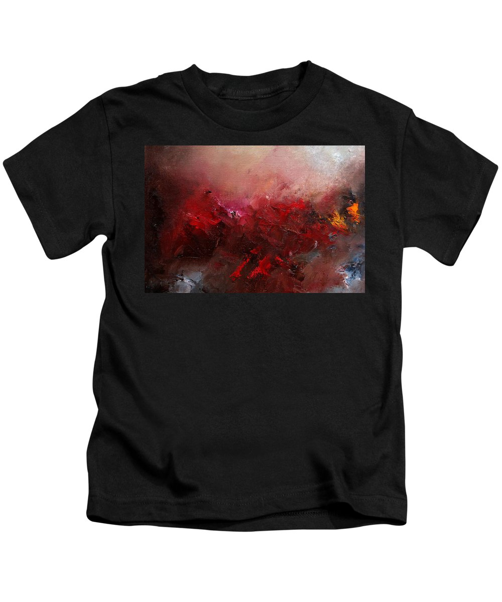 Abstract Kids T-Shirt featuring the painting Abstract 056 by Pol Ledent