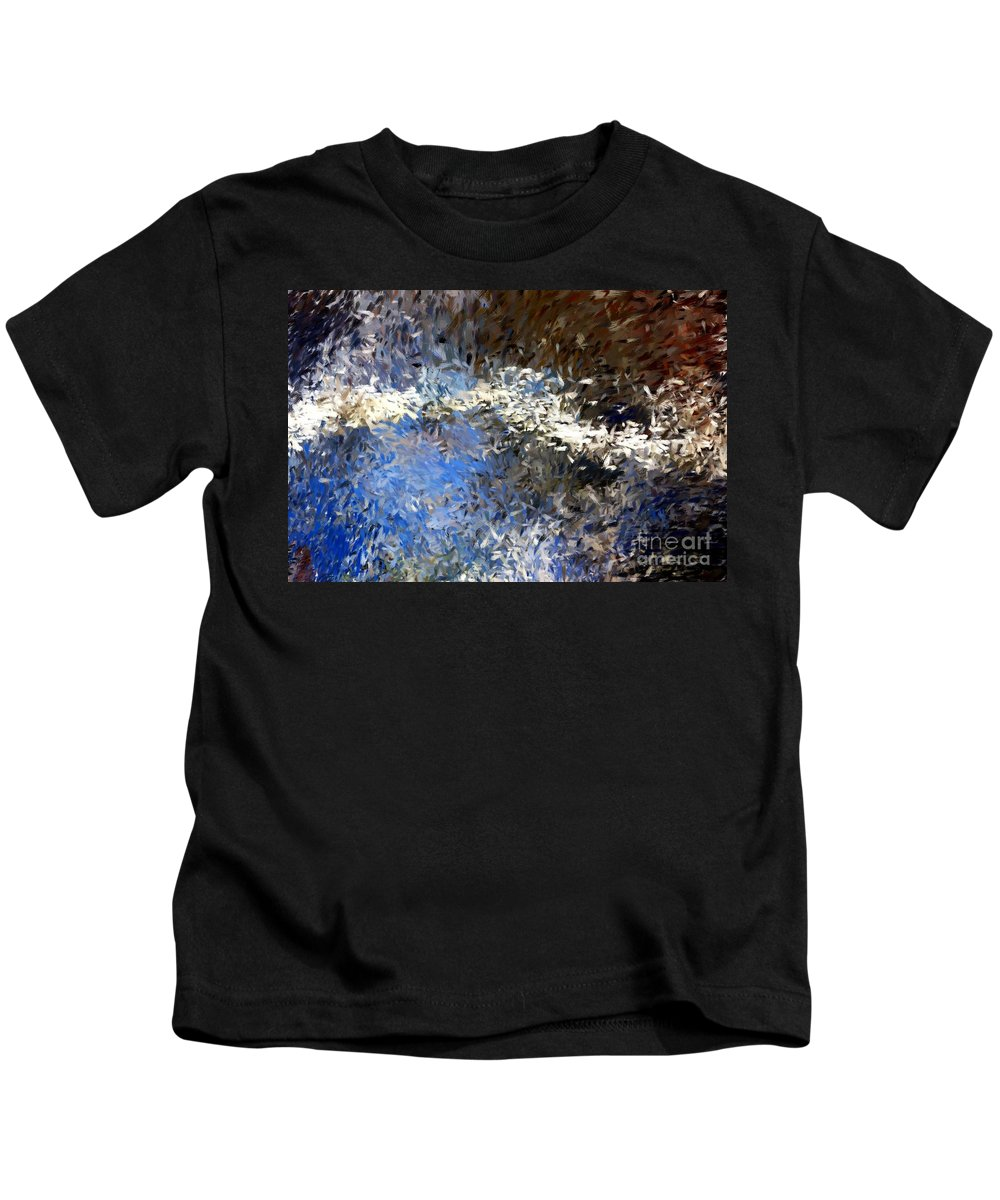 Abstract Kids T-Shirt featuring the digital art Abstract 06-03-09b by David Lane