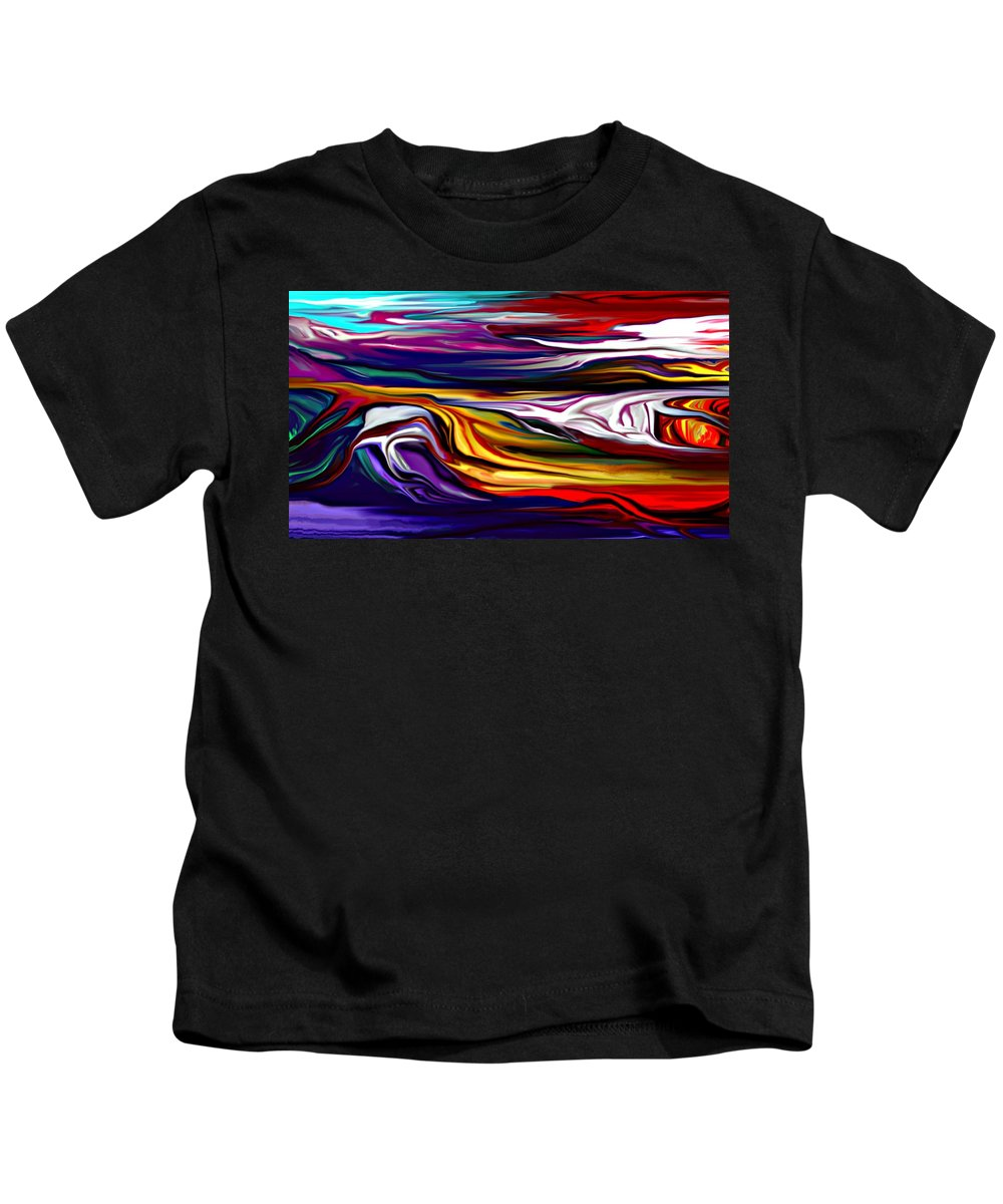 Abstract Kids T-Shirt featuring the digital art Abstract 06-12-09 by David Lane