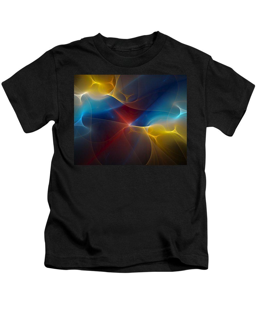 Digital Painting Kids T-Shirt featuring the digital art Abstract 060410 by David Lane