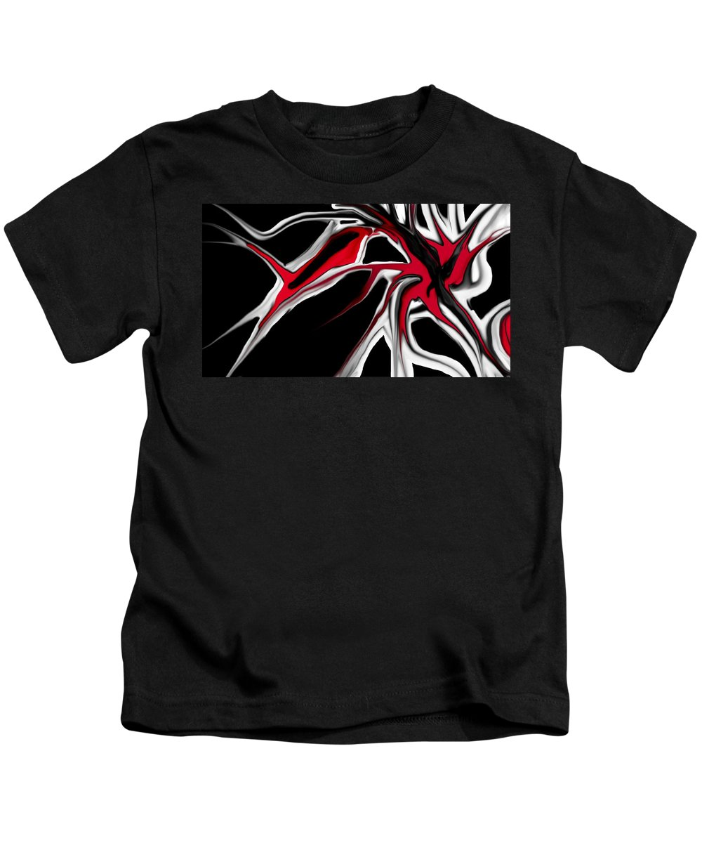 Abstract Kids T-Shirt featuring the digital art Abstract 6-14-09 by David Lane