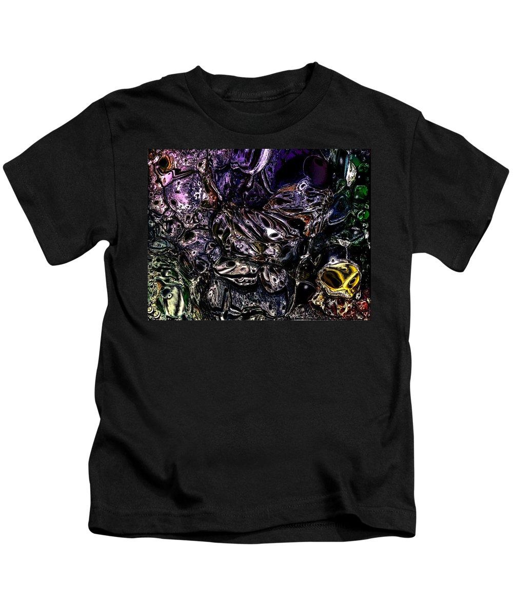 Digital Art Kids T-Shirt featuring the digital art Abstract 63016.4 by Belinda Cox