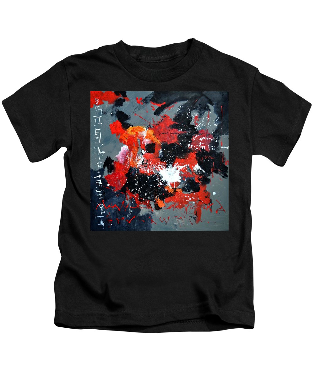 Abstract Kids T-Shirt featuring the painting Abstract 6611403 by Pol Ledent