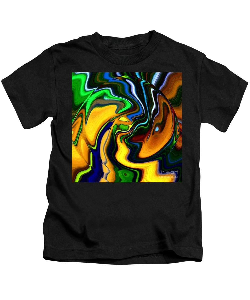 Abstract Kids T-Shirt featuring the digital art Abstract 7-10-09 by David Lane