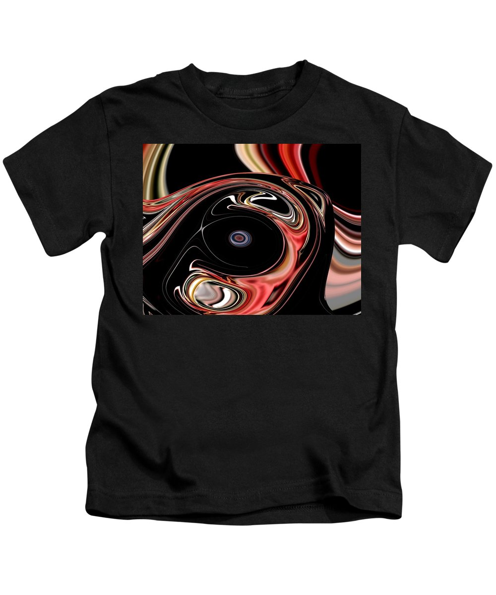 Abstract Kids T-Shirt featuring the digital art Abstract 7-26-09-b by David Lane