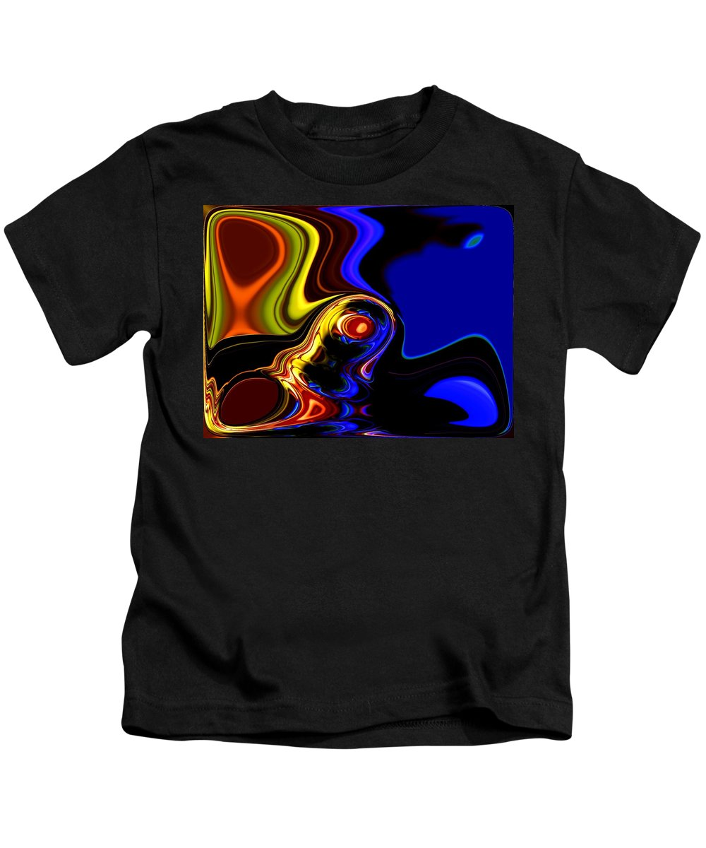 Abstract Kids T-Shirt featuring the digital art Abstract 7-26-09 by David Lane