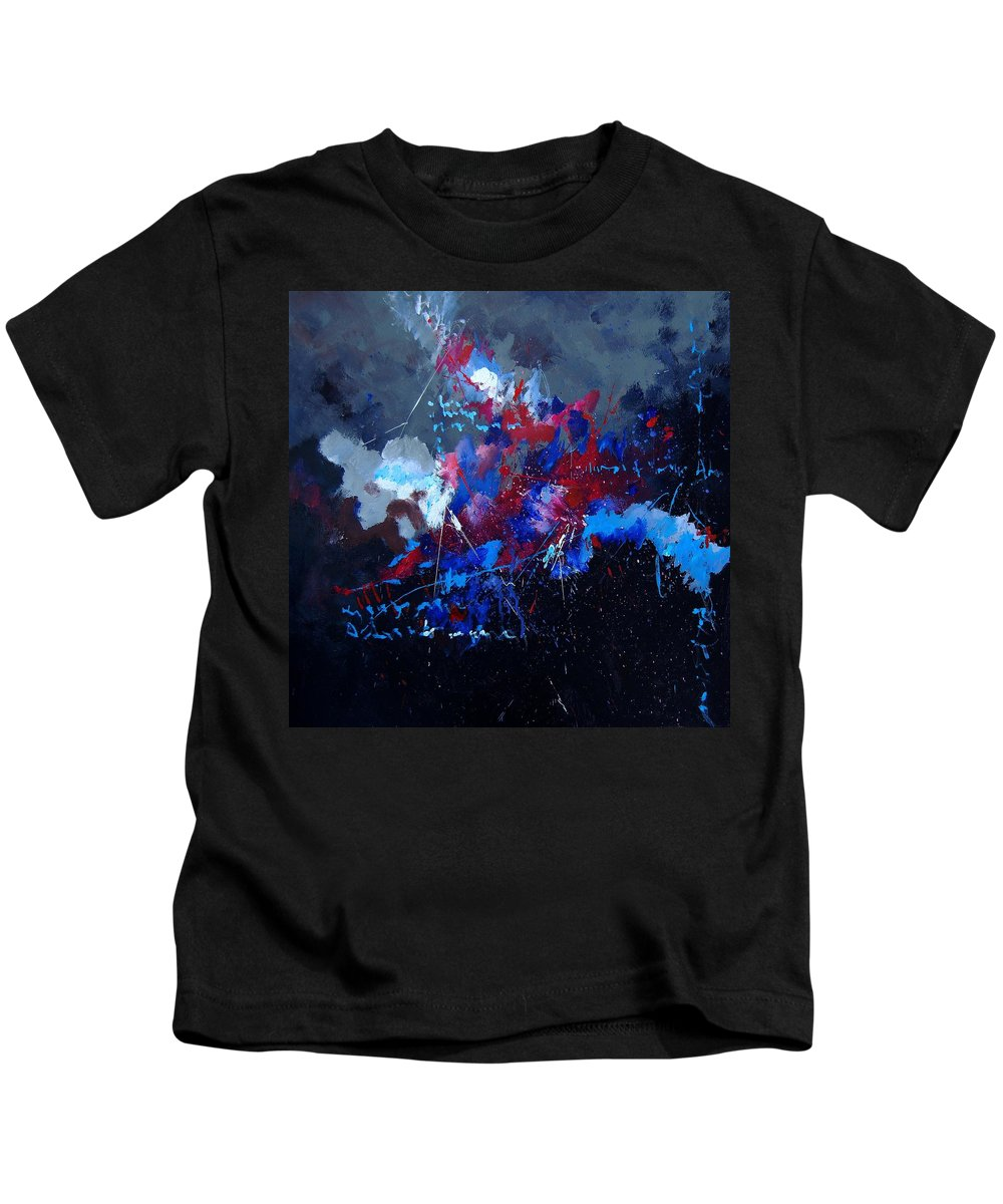 Abstract Kids T-Shirt featuring the painting Abstract 77902171 by Pol Ledent