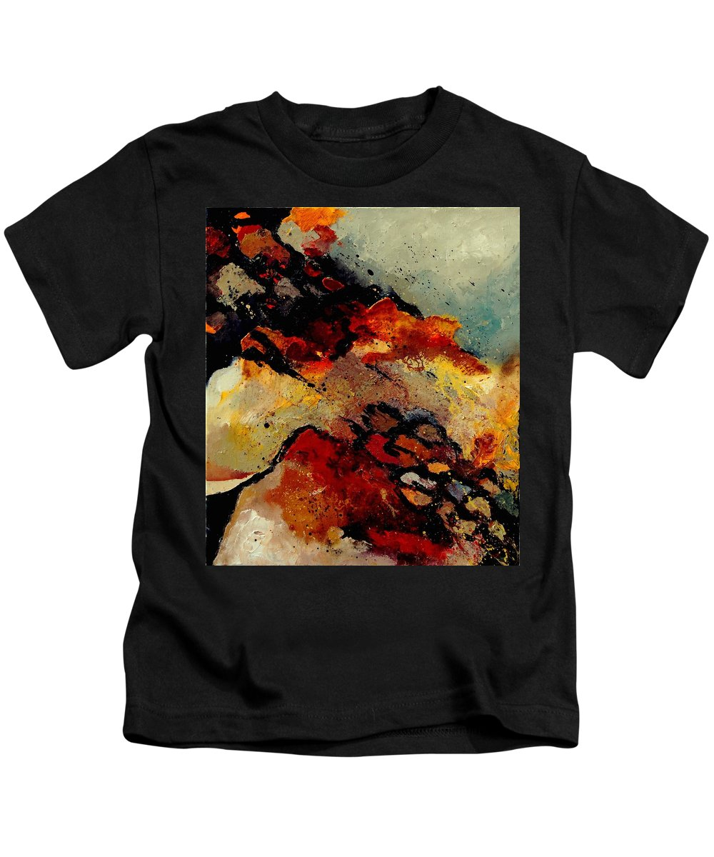 Abstract Kids T-Shirt featuring the painting Abstract 780707 by Pol Ledent