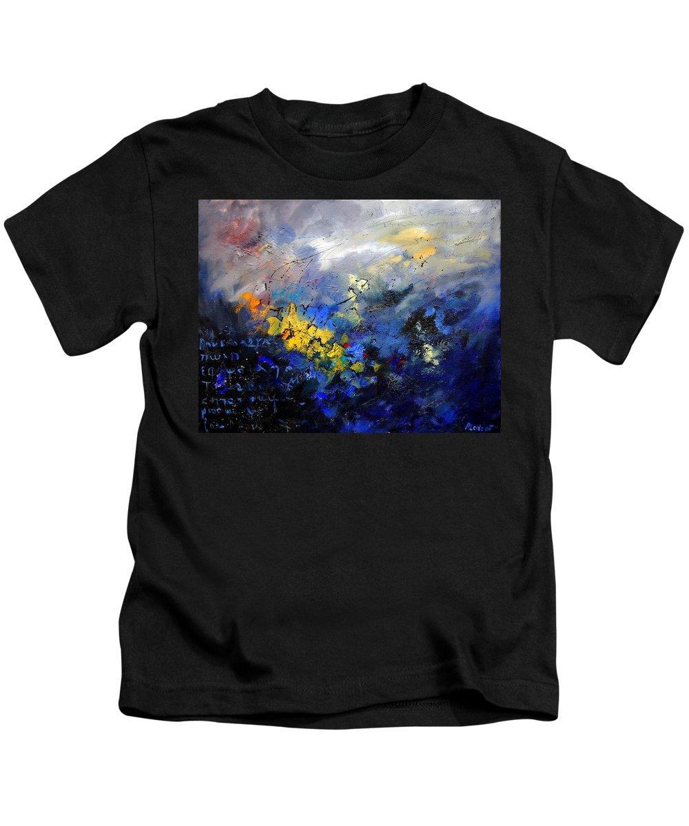 Abstract Kids T-Shirt featuring the painting Abstract 970208 by Pol Ledent