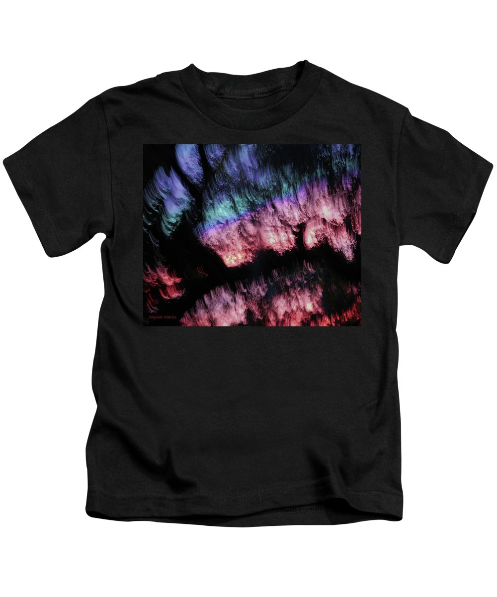 Abstract Kids T-Shirt featuring the digital art Abstract Accident by DigiArt Diaries by Vicky B Fuller