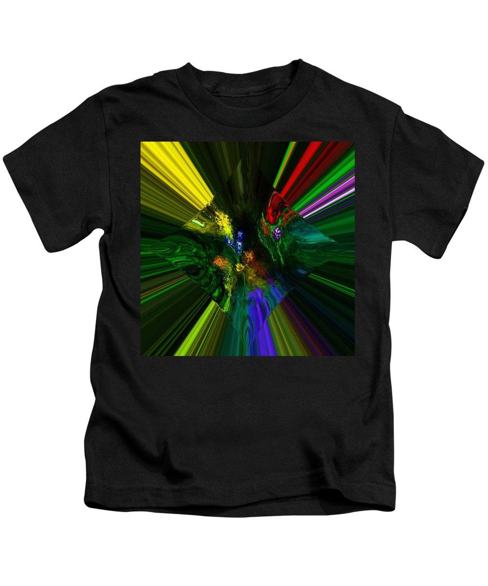 Digital Painting Kids T-Shirt featuring the digital art Abstract Garden by David Lane