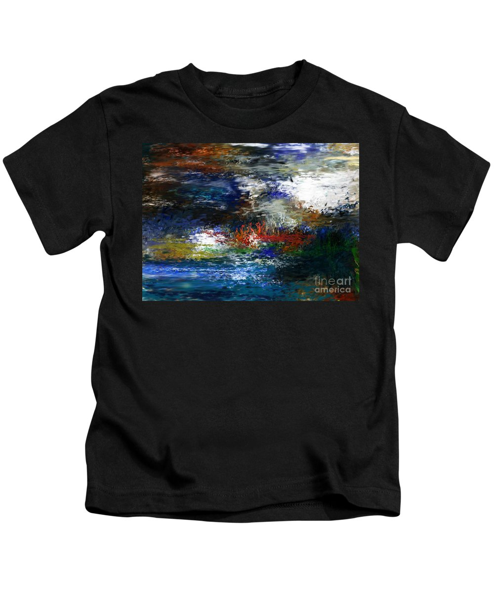 Abstract Kids T-Shirt featuring the digital art Abstract Impression 5-9-09 by David Lane