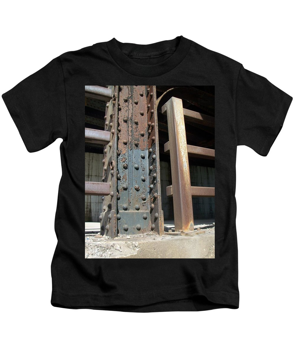 Urban Kids T-Shirt featuring the photograph Abstract Rust 1 by Anita Burgermeister