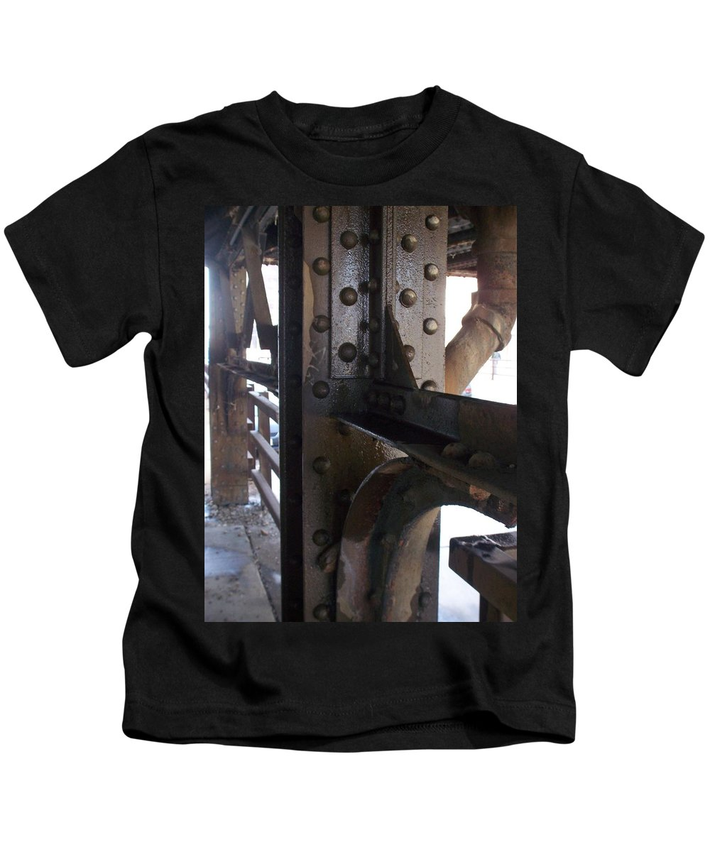 Industrial Kids T-Shirt featuring the photograph Abstract Rust 5 by Anita Burgermeister