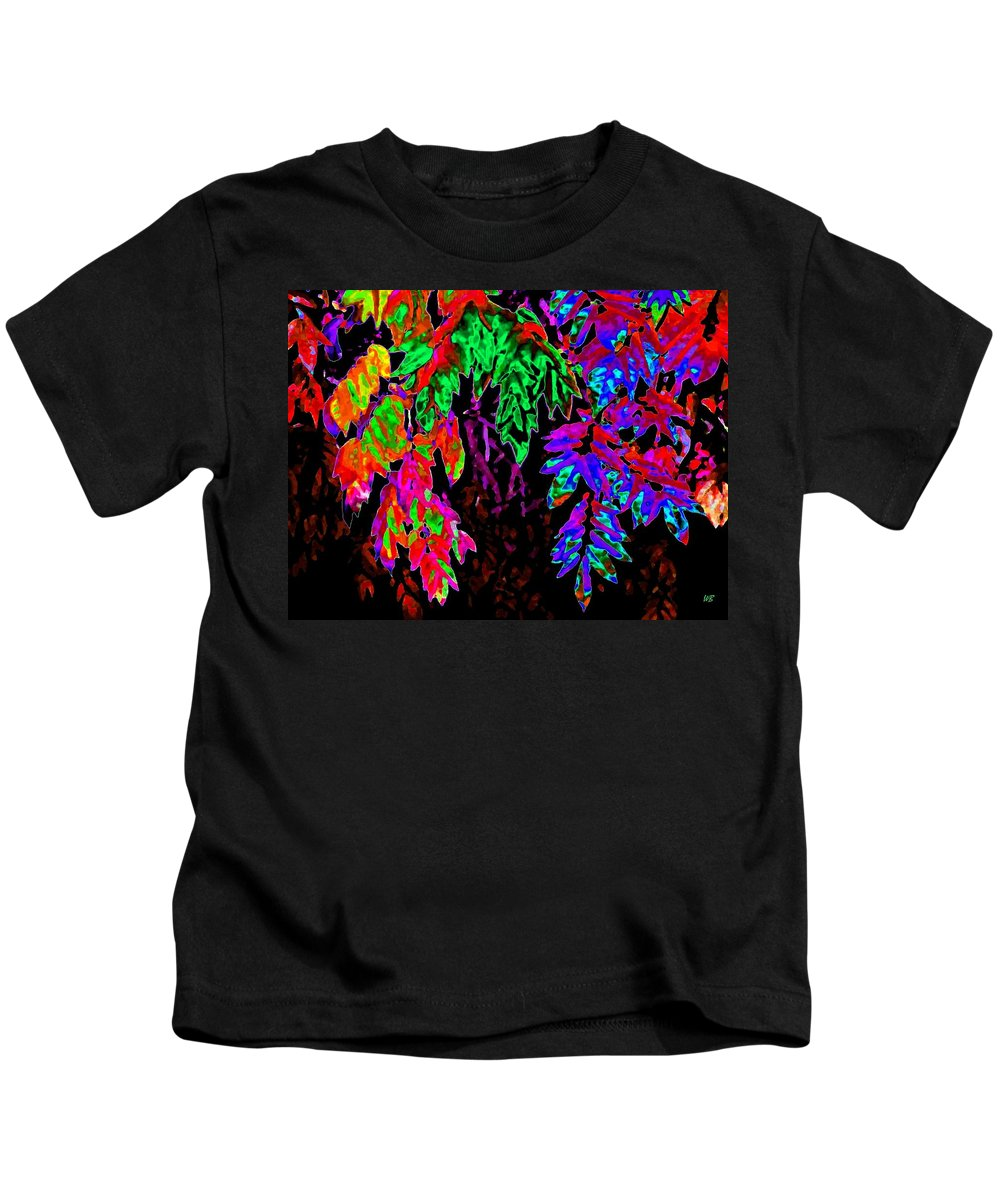 Abstract Kids T-Shirt featuring the digital art Abstract Wisteria by Will Borden