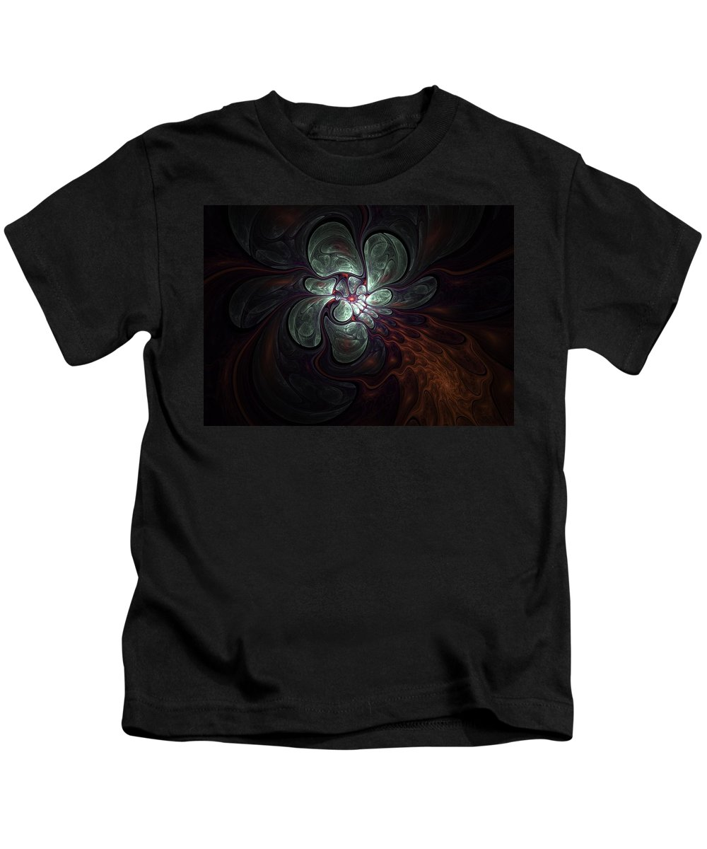 Digital Painting Kids T-Shirt featuring the digital art Abstract051710a by David Lane