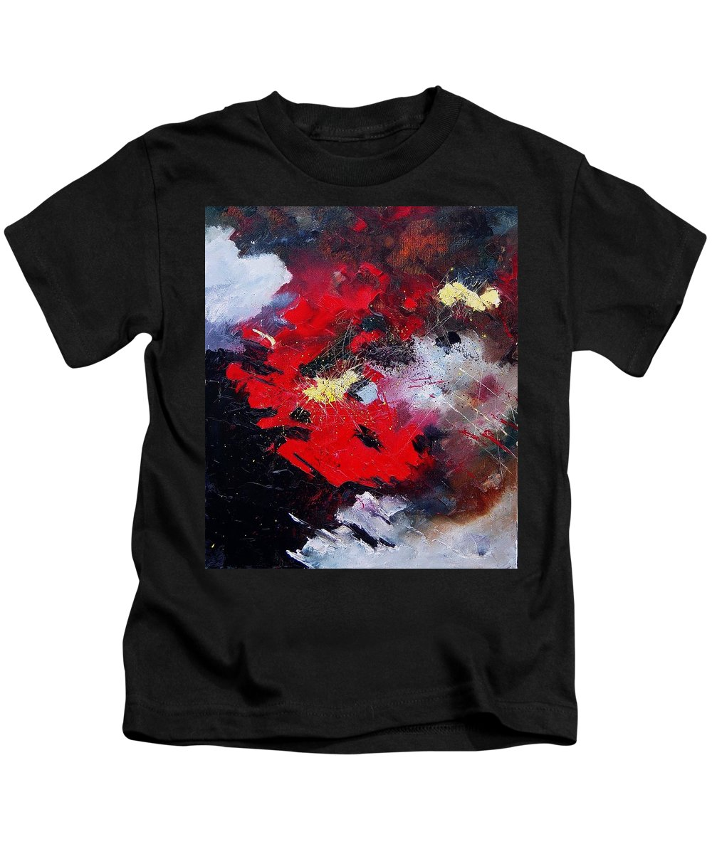 Abstract Kids T-Shirt featuring the painting Abstract070406 by Pol Ledent