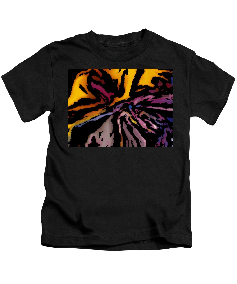 Abstract Kids T-Shirt featuring the digital art Abstract309g by David Lane