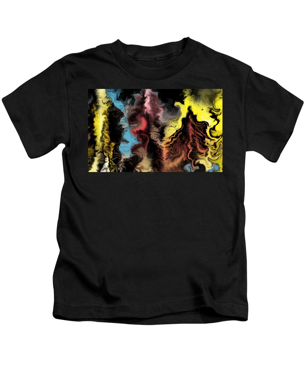 Abstract Kids T-Shirt featuring the digital art Abstract309i by David Lane