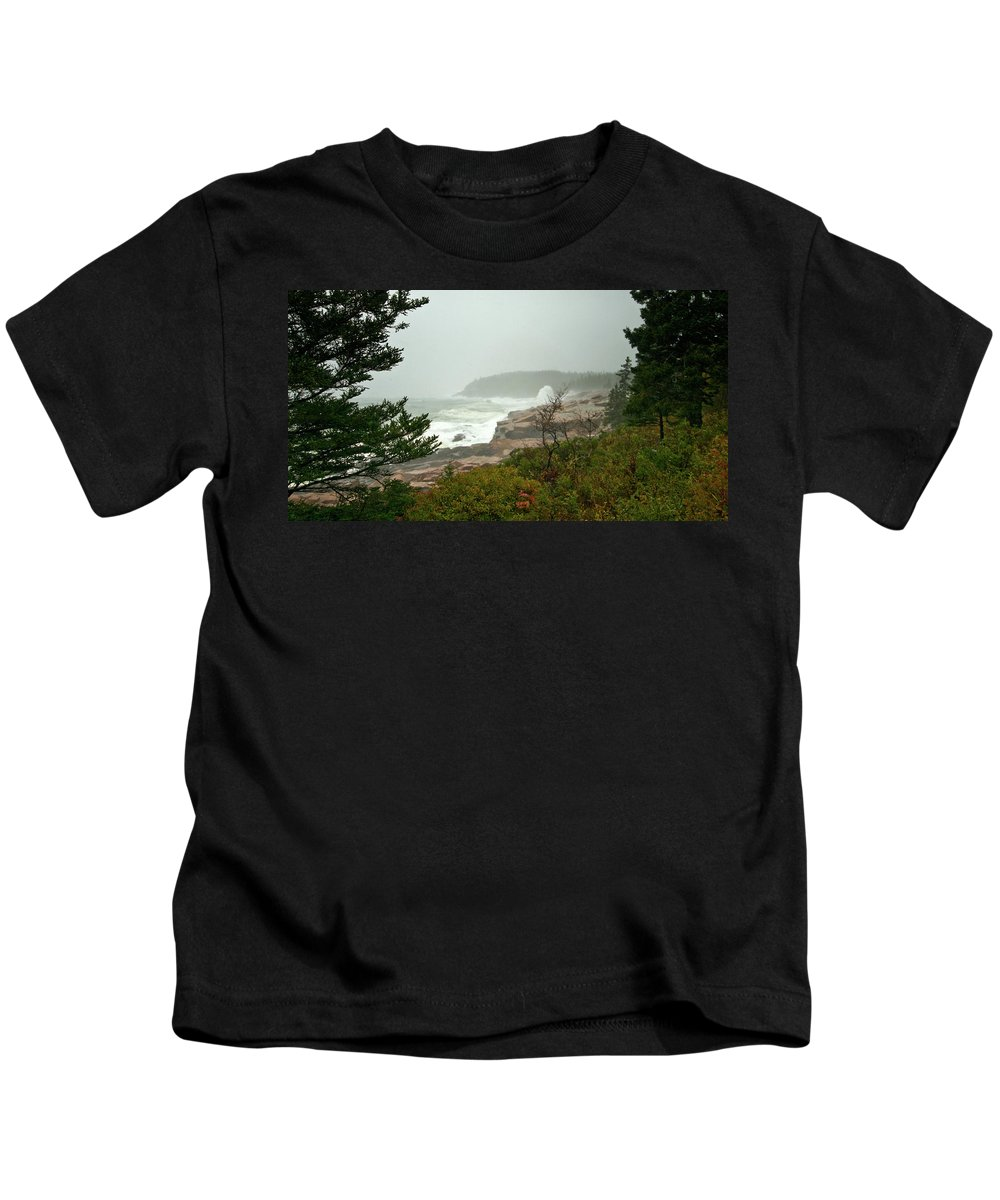 nor' Easter Kids T-Shirt featuring the photograph Acadian Storm by Paul Mangold