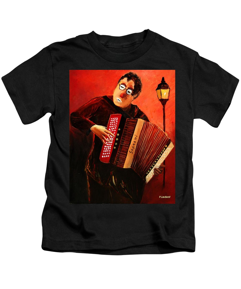 Music Kids T-Shirt featuring the print Accordeon by Pol Ledent