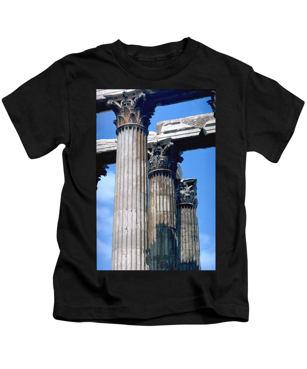 Acropolis Kids T-Shirt featuring the photograph Acropolis by Flavia Westerwelle