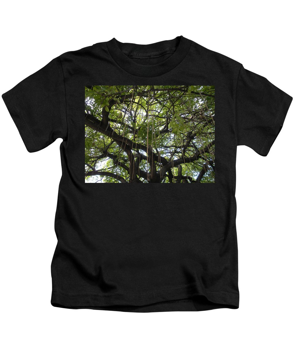 Trees Kids T-Shirt featuring the photograph Aerial Network I by Maria Bonnier-Perez