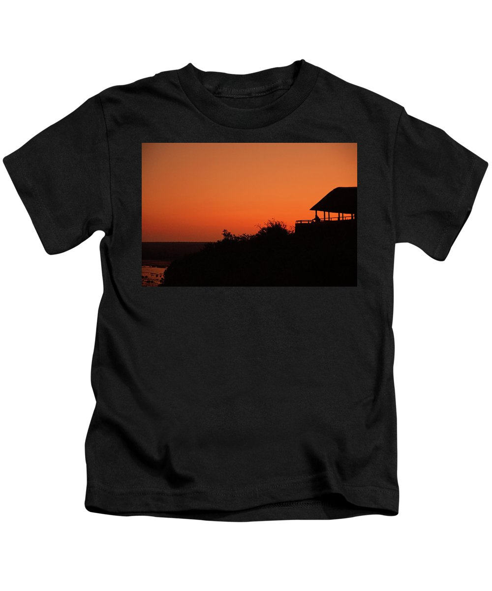 Landscape Kids T-Shirt featuring the photograph African Bush Sunset by Suzanne Morshead