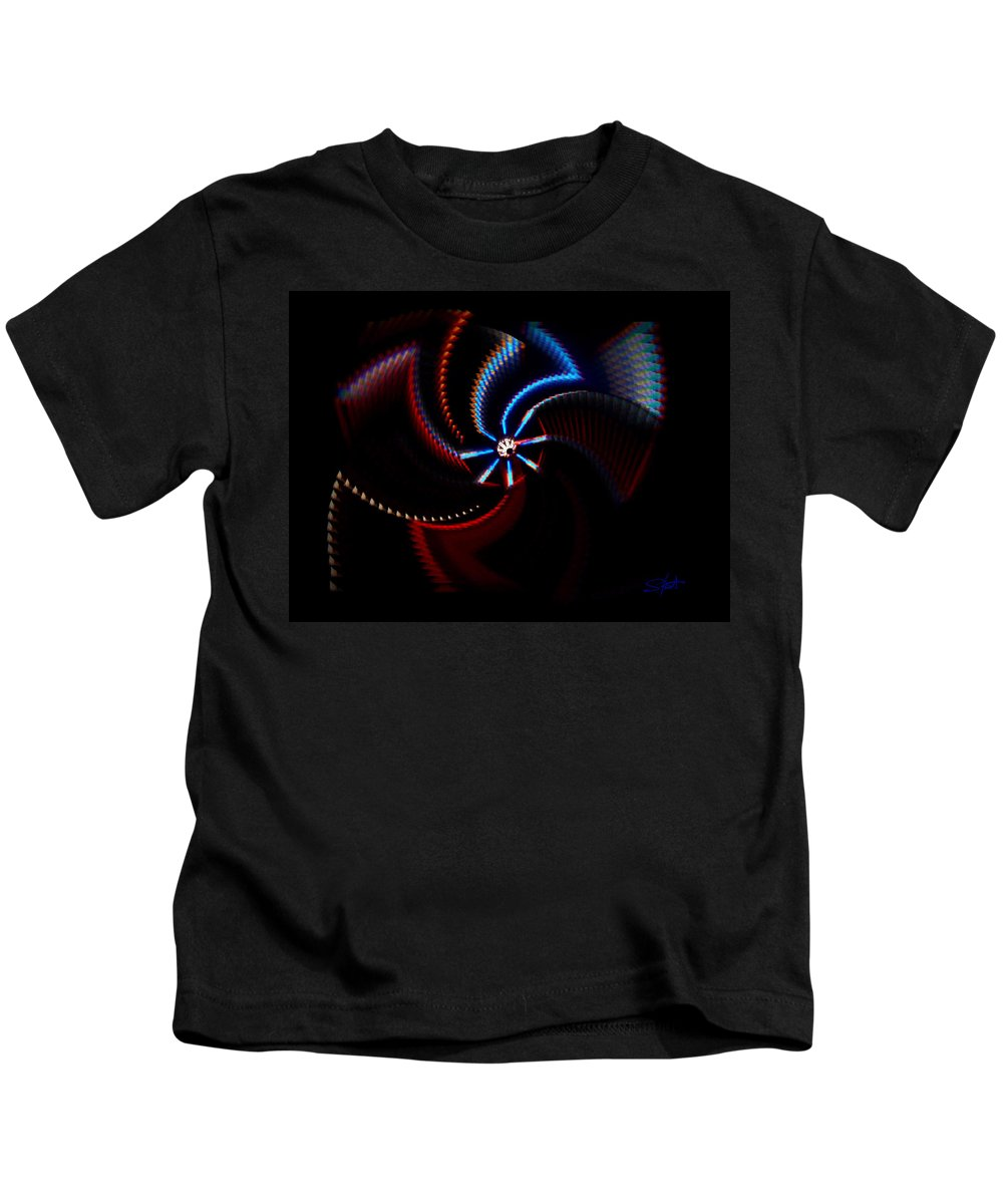 Chaos Kids T-Shirt featuring the photograph After Shock by Charles Stuart