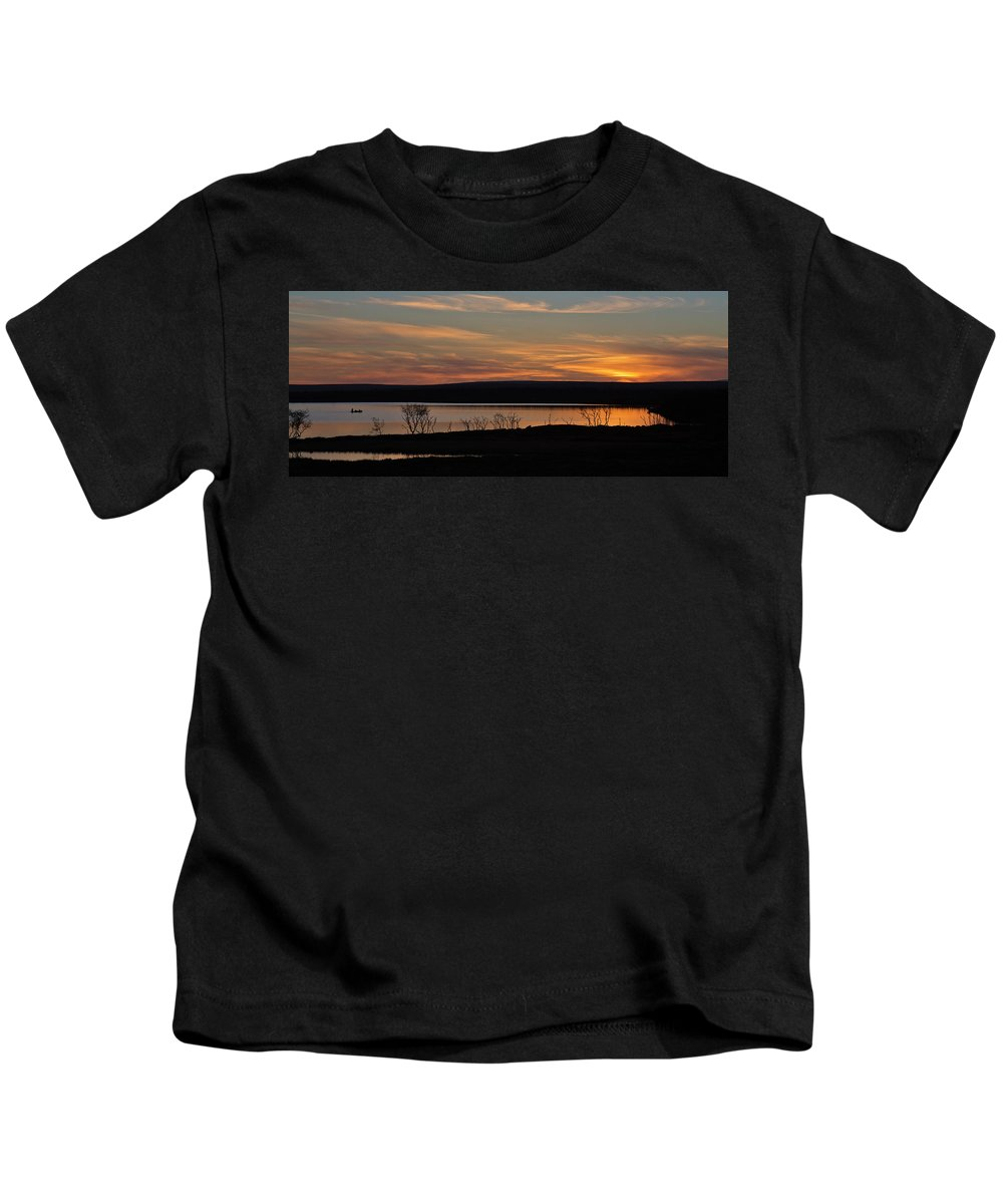 Sunset Kids T-Shirt featuring the photograph After Sunset by Pekka Sammallahti