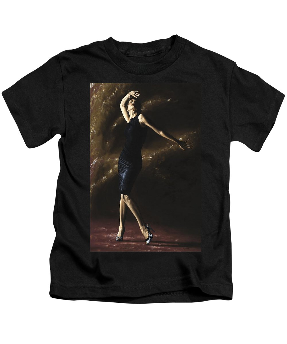 Dance Kids T-Shirt featuring the painting After The Dance by Richard Young