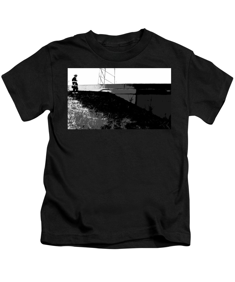 After The Fire Kids T-Shirt featuring the photograph After The Fire by Ed Smith