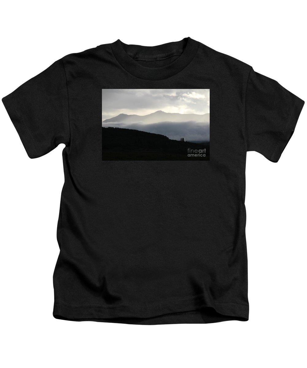 Rain Kids T-Shirt featuring the photograph The Quiet Spirits by Ann E Robson
