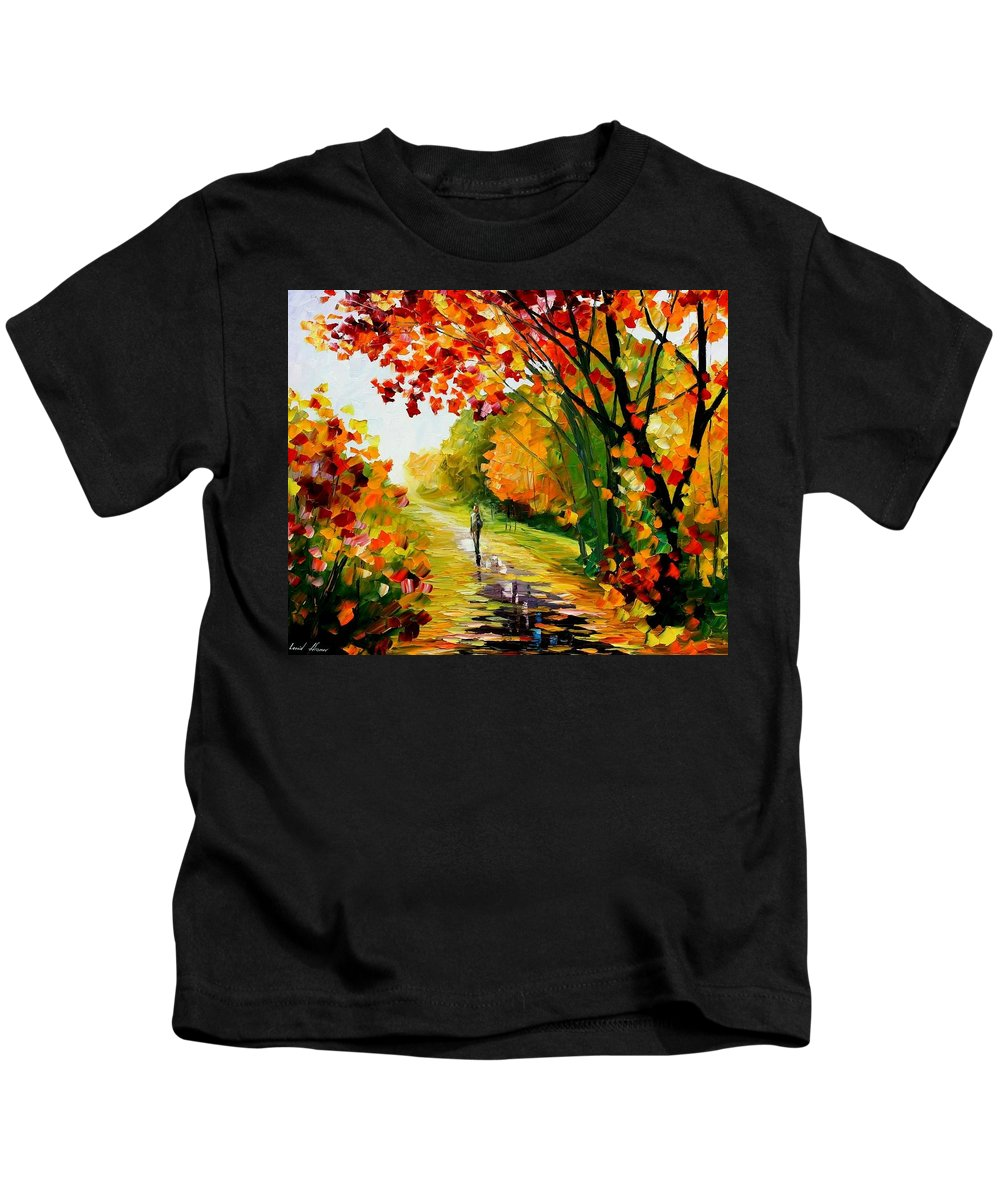Afremov Kids T-Shirt featuring the painting After The Rain by Leonid Afremov