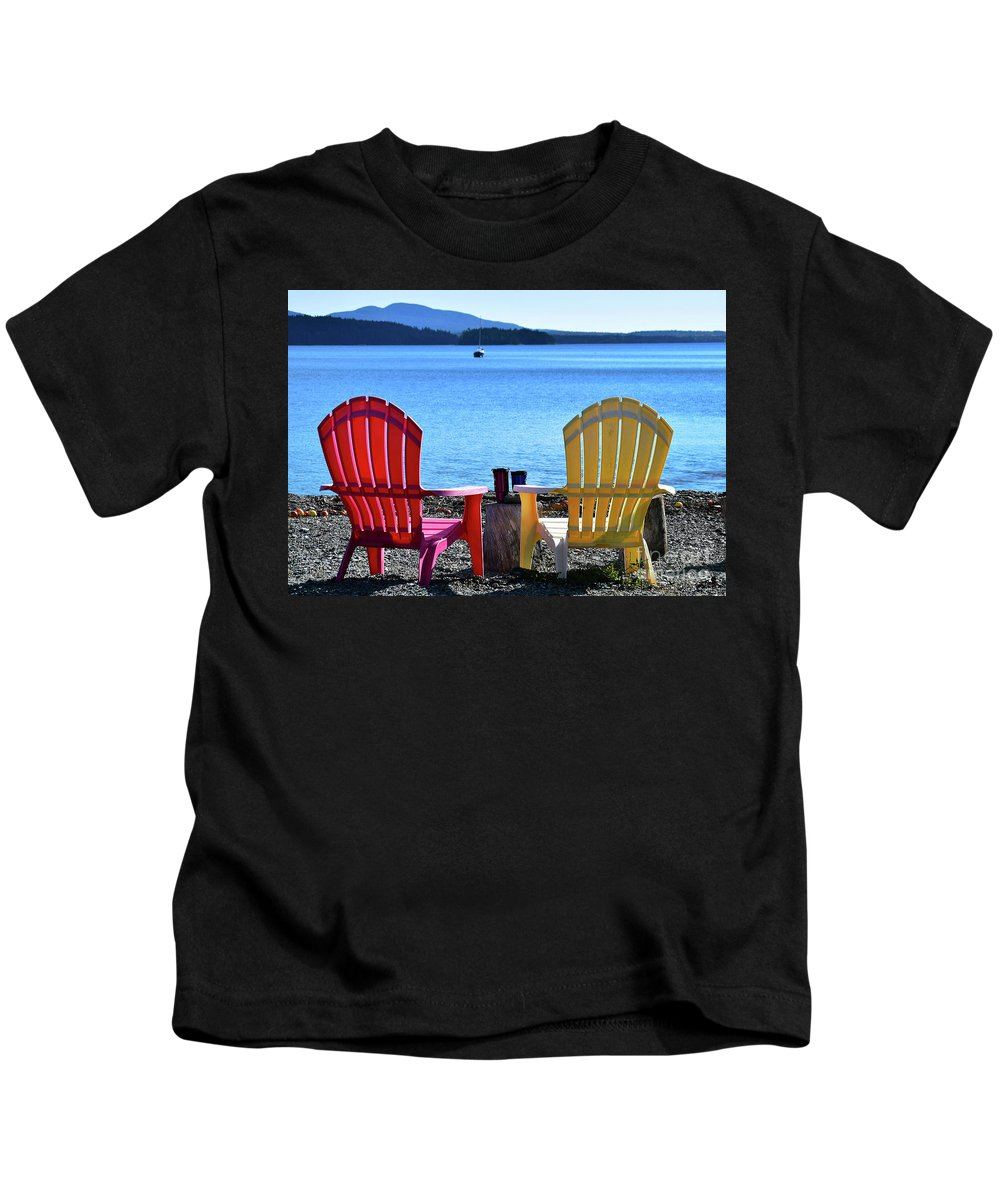 Afternoon Coffee Kids T-Shirt featuring the photograph Afternoon Coffee by Patti Whitten