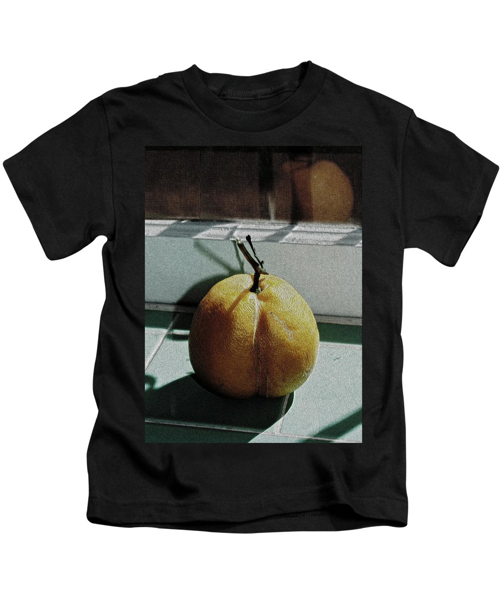 Lemon Kids T-Shirt featuring the photograph Afternoon Lemon by Gwyn Newcombe