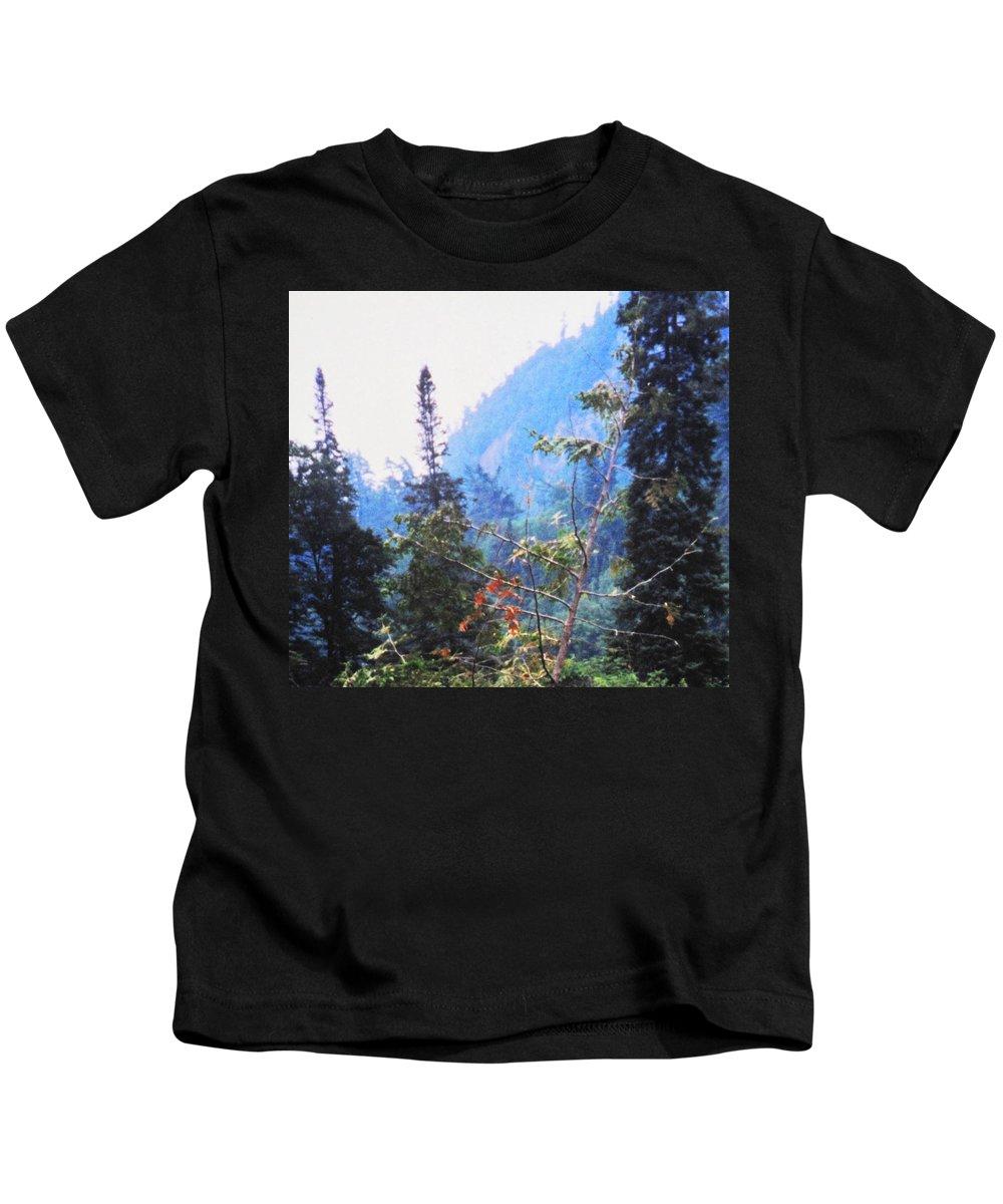 Agawa Kids T-Shirt featuring the photograph Agawa Canyon by Ian MacDonald