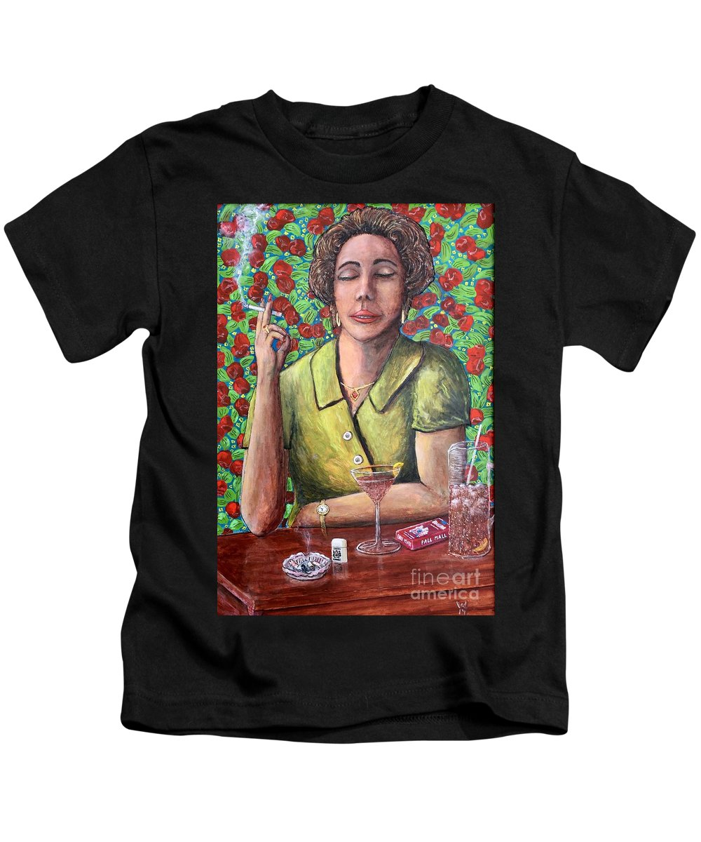 Agnes Kids T-Shirt featuring the painting Agnes by Richard Wandell