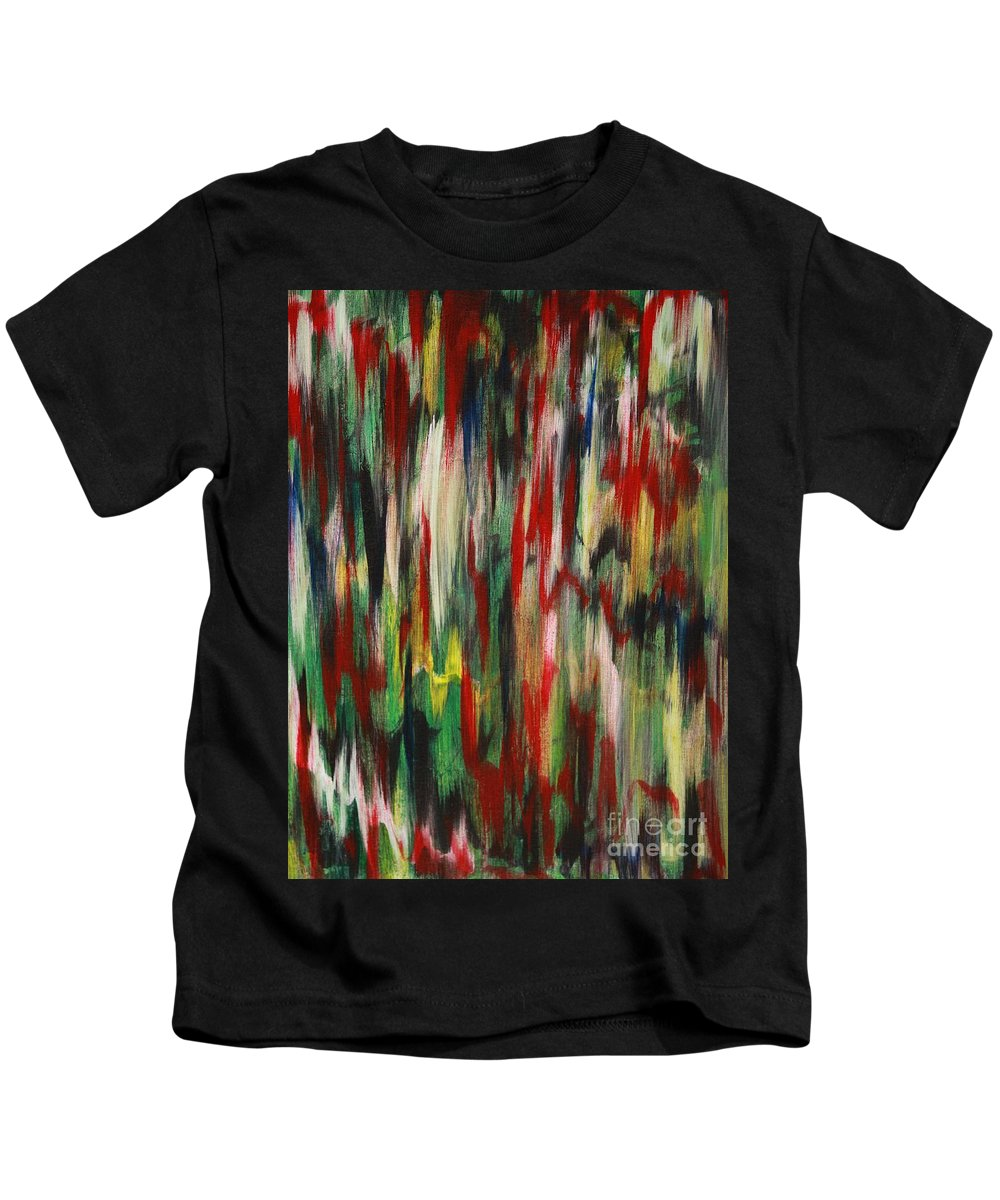 Abstract Kids T-Shirt featuring the painting Agony by Jacqueline Athmann