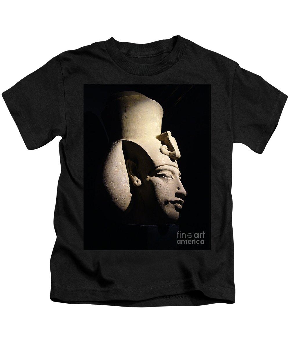 Egypt Kids T-Shirt featuring the photograph Akhenaten by Sheila Laurens