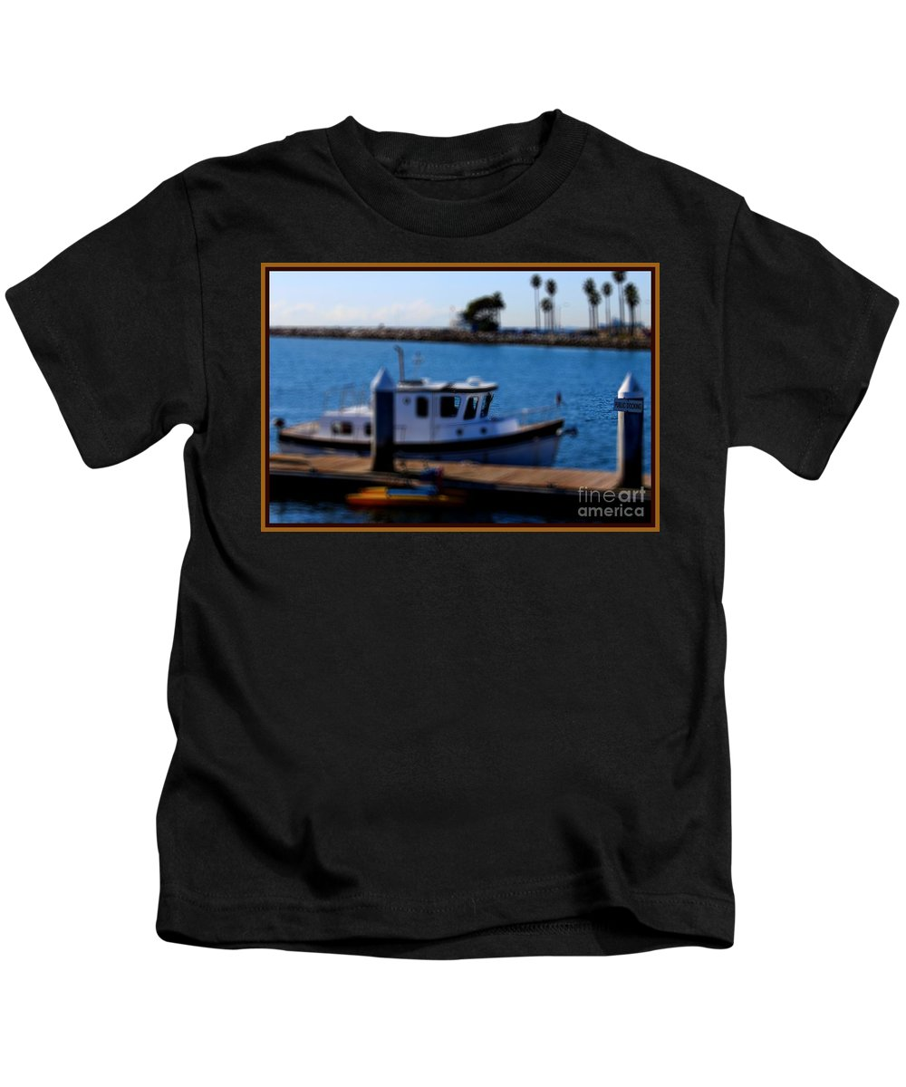 Mast Kids T-Shirt featuring the photograph Alamitos Bay Long Beach by RJ Aguilar