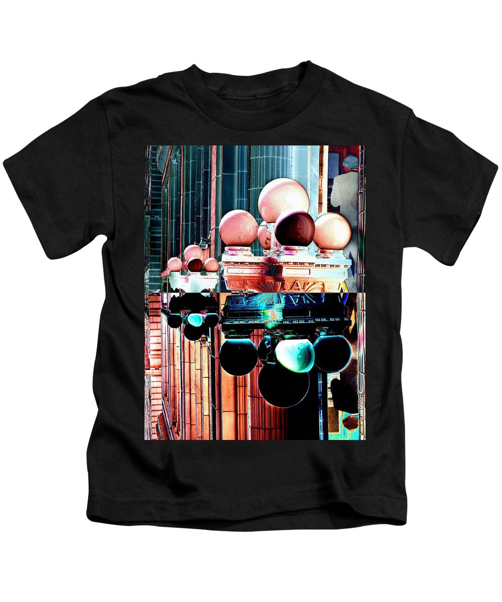 Seattle Kids T-Shirt featuring the photograph Alaska Building Lights by Tim Allen