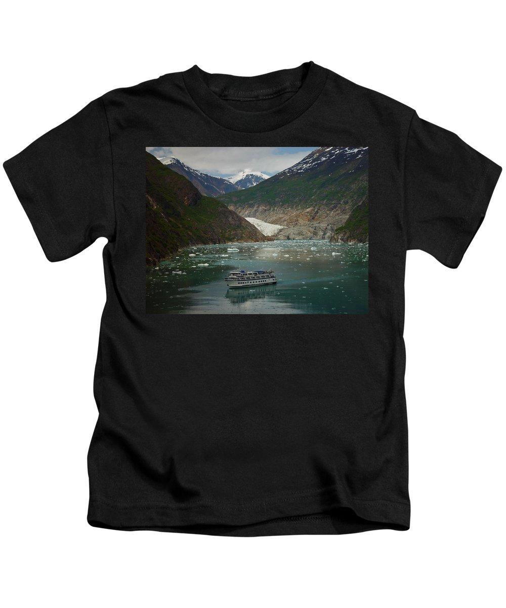 Alaska Kids T-Shirt featuring the photograph Alaska Endicott Glacier by Heather Coen