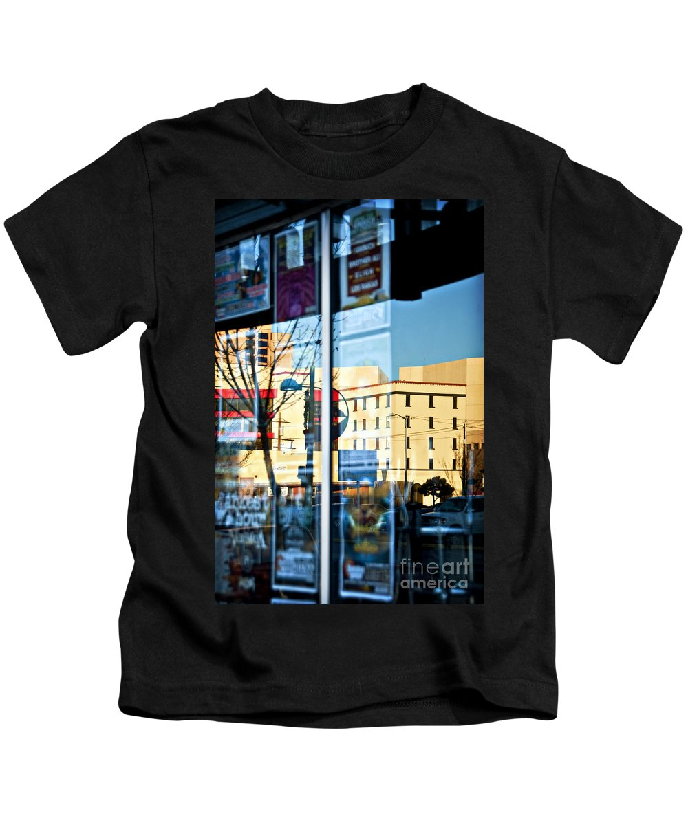 Abstract Kids T-Shirt featuring the photograph Albuquerque Reflections by Ray Laskowitz - Printscapes