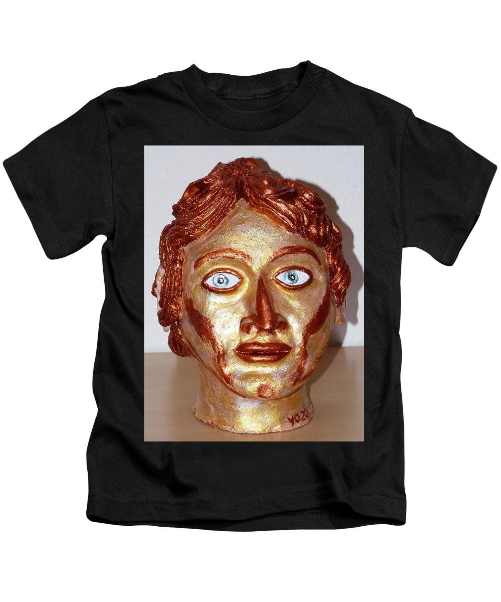 Alexander Kids T-Shirt featuring the sculpture Alexander The Great by Valerie Ornstein