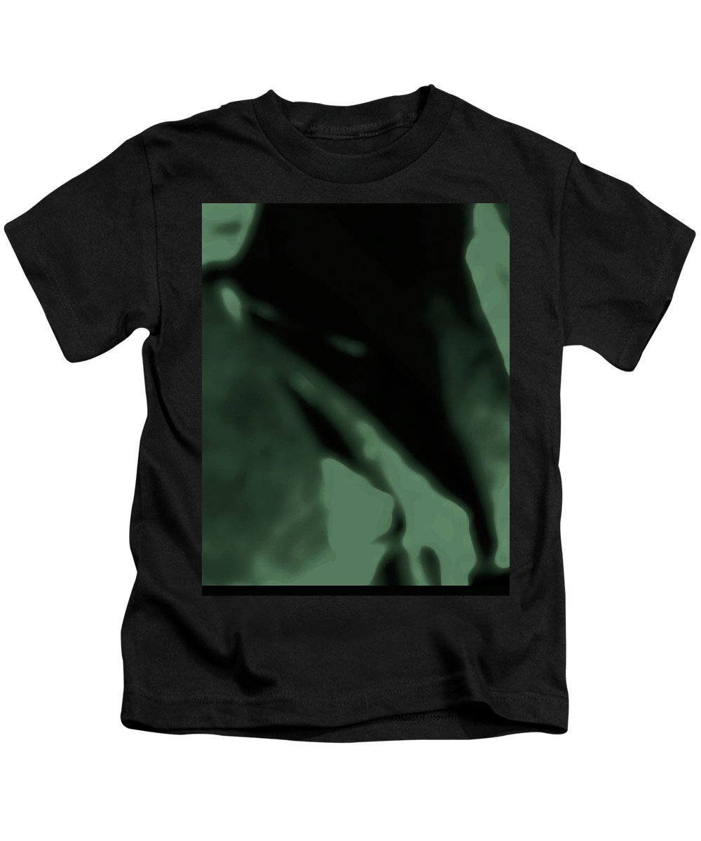Abstract Kids T-Shirt featuring the digital art Alien Child Emerging by Lenore Senior