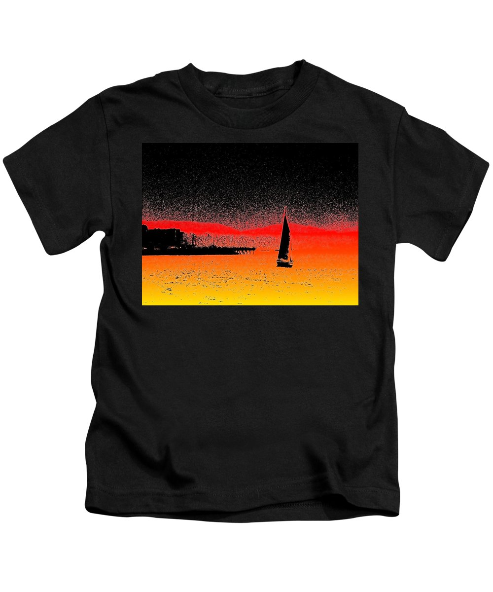 Seattle Kids T-Shirt featuring the photograph Alki Sail by Tim Allen