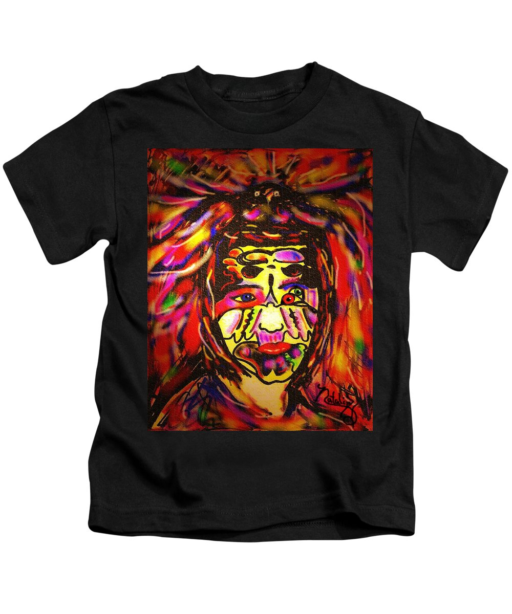 Man Kids T-Shirt featuring the painting All Seeing Eye by Natalie Holland